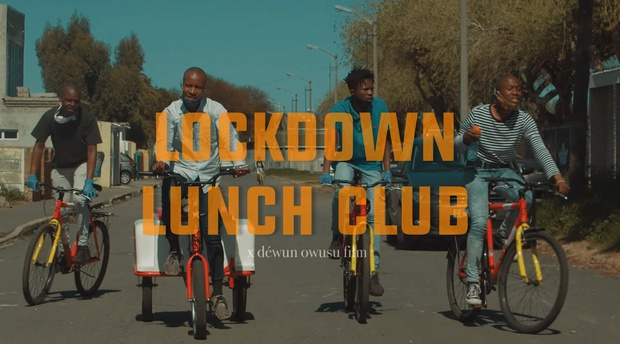 Lockdown Lunch Club movie - Screen grab via Cape Town LAPD on YouTube