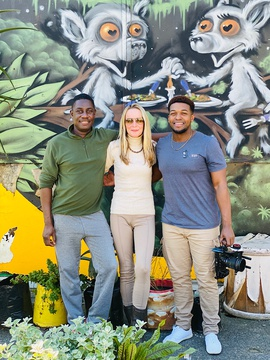 Founder of iKhaya le Langa Tony Elvin; Alison von During of Little Liberty Airbnb, Cape Town; Founder of of ICLASS Media, Déwun Owusu